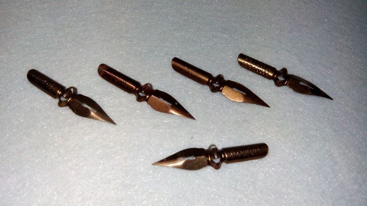 Dip pen nibs, lot of 5 vintage nibs (from 50's / 60's), Writing, Draw #UniqueItem