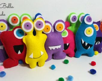 Adopt a monster party favors cute monsters by littlesbyBella