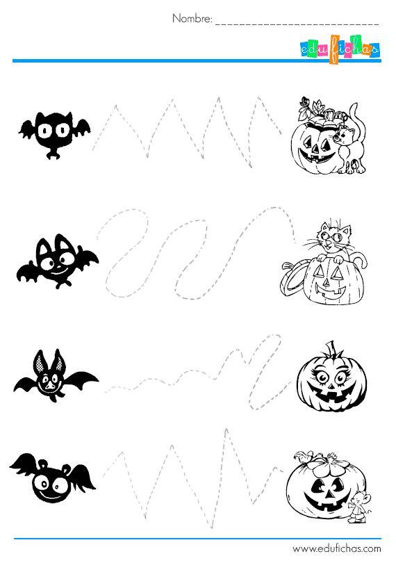 Descarga actividades de grafomotricidad de halloween for Actividades con cartulina para ninos