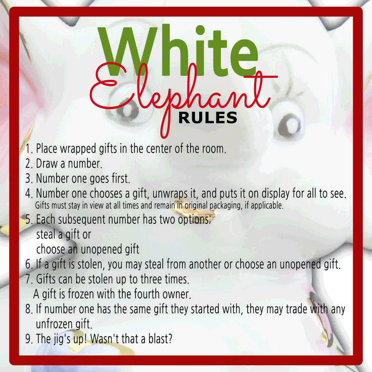 Best 25+ White elephant game rules ideas on Pinterest | Christmas ...