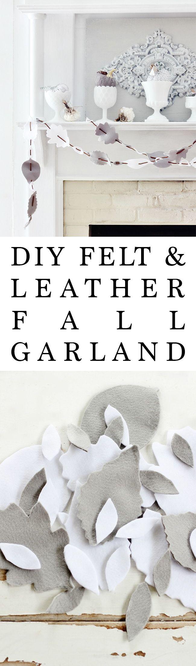 DIY Felt and Leather Fall Garland