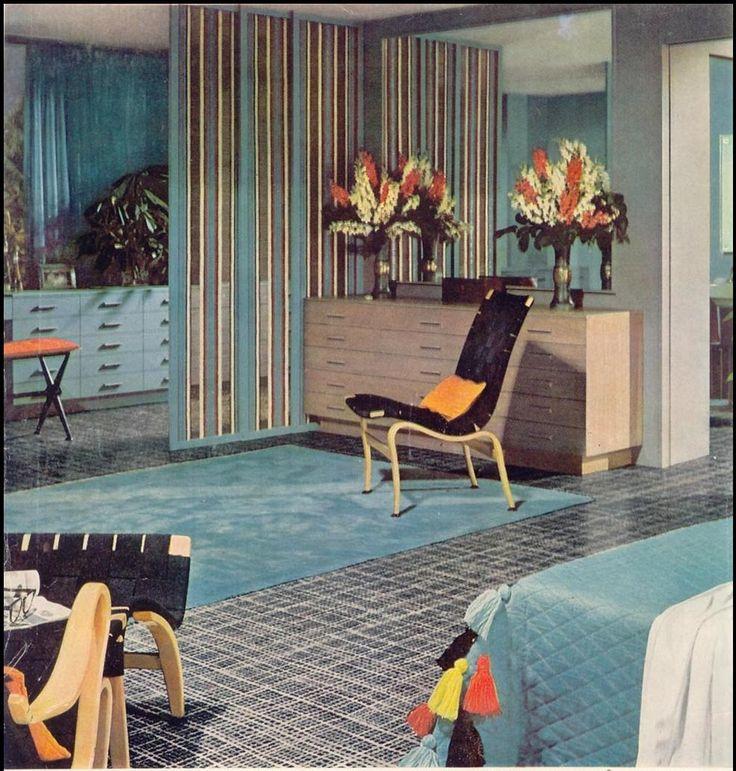 1955. 1950s Interiors  en samling Heminredning id er att testa