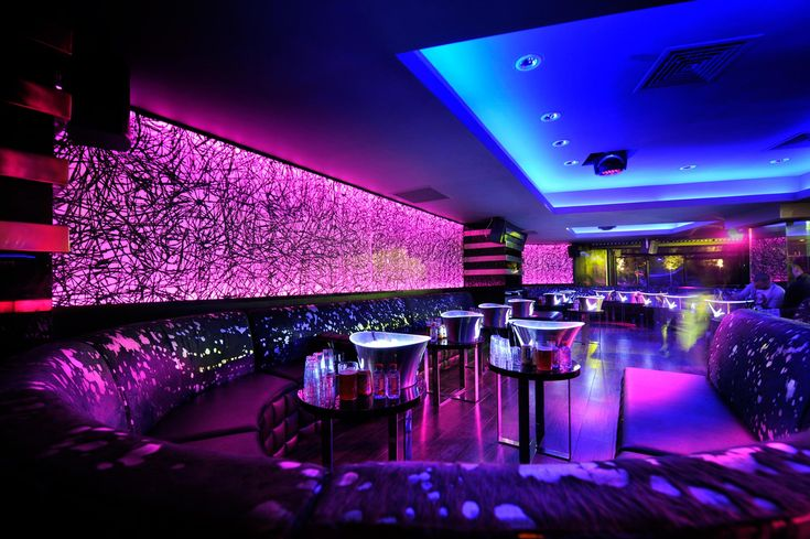 Nightclub uses LED Strip Lighting to enhance its colourful and electric atmosphere.