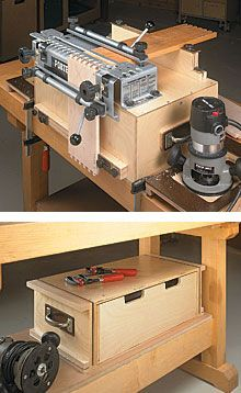 portable dovetail jig workcenter