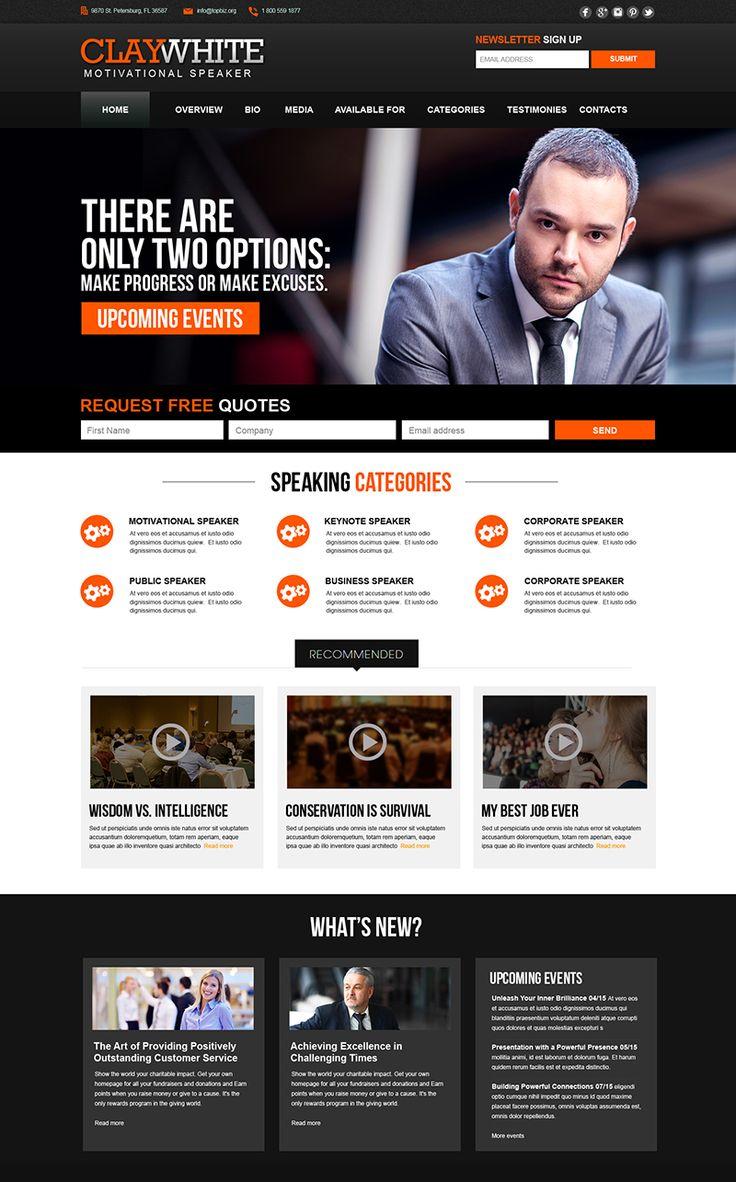 19 best Public Speaker Website Design images on Pinterest | Website ...