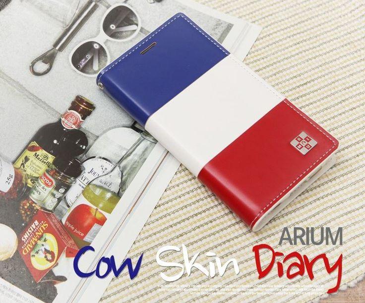ARIUM COW SKIN DIARY FLIP CASE FOR GALAXY NOTE 3