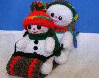 Les 81 meilleures images propos de deco noel au crochet - Bonhomme de neige au crochet ...