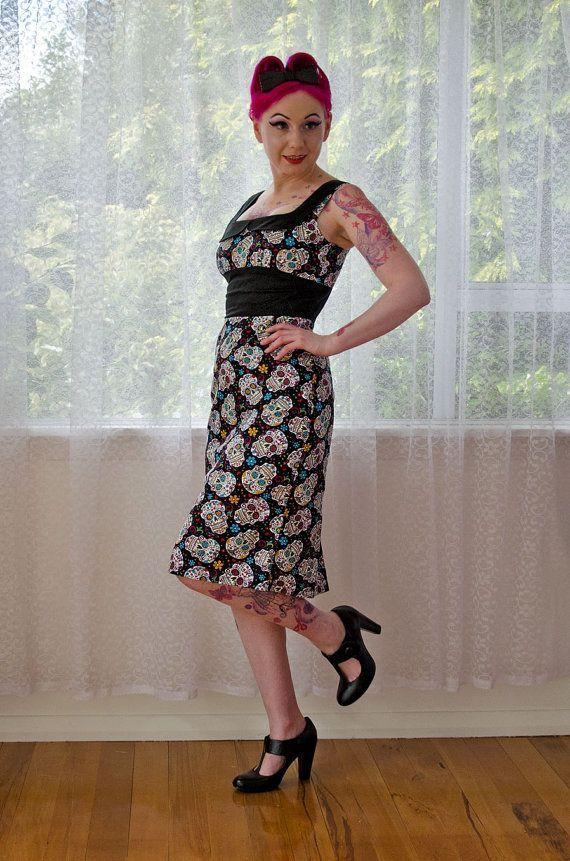 sugar skull dress by pixie pocket
