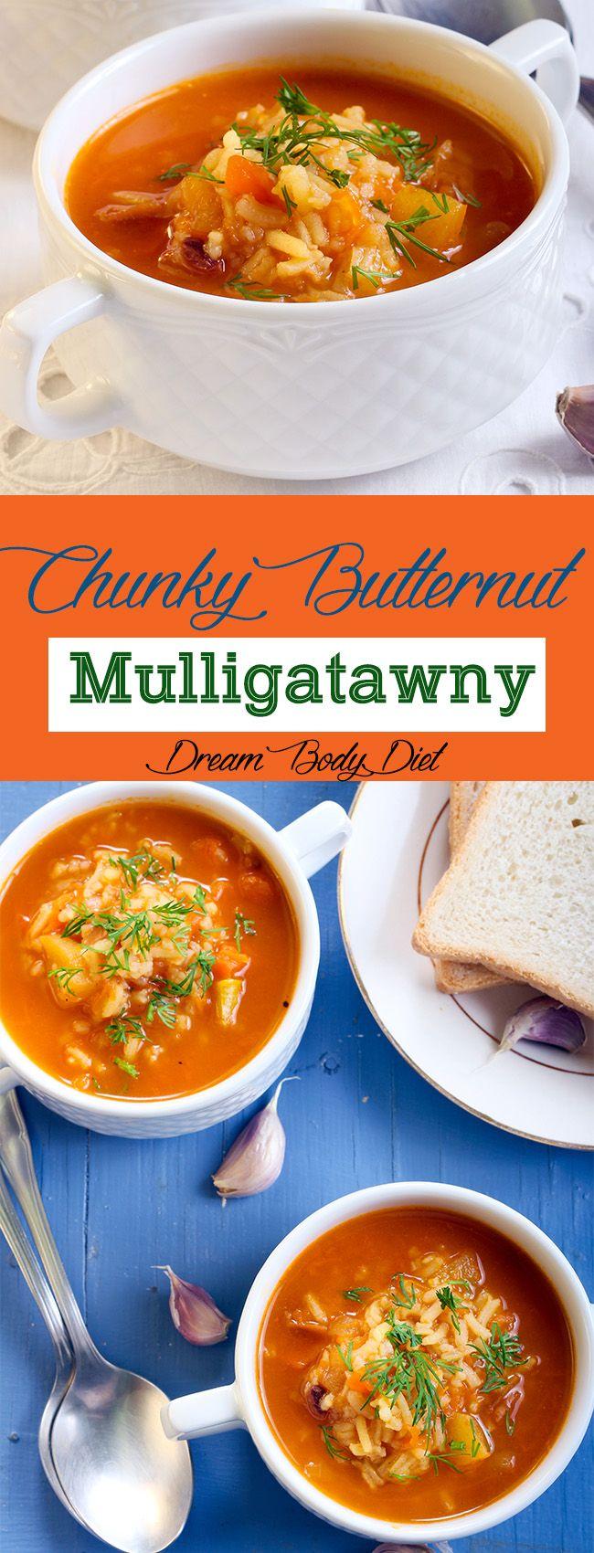 Chunky Butternut Mulligatawny - Sueño Cuerpo Dieta - Dieta cuerpo de sueño