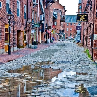 One of my favorite streets in the world!  Located in the historic Old Port of Portland Maine, this street is surrounded by shopping, excellent restaurants and briny sea air.  Step into an older world filled with cobblestones and charm!  I know I'll be there this spring.