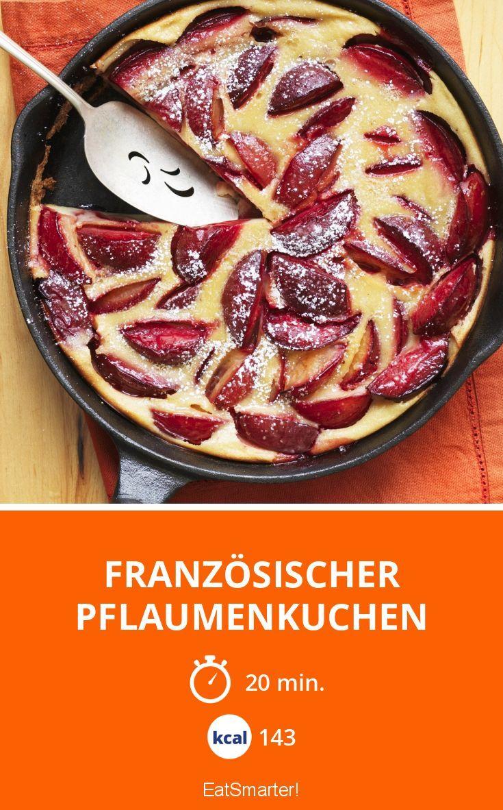 Französischer Pflaumenkuchen - smarter - Kalorien: 143 Kcal - Zeit: 20 Min.   eatsmarter.de