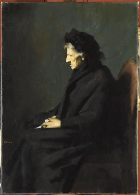 Jean-Jacques Henner -  Mme Séraphin Henner,  1901,  Paris, musée Jean-Jacques Henner http://www.musee-henner.fr/home