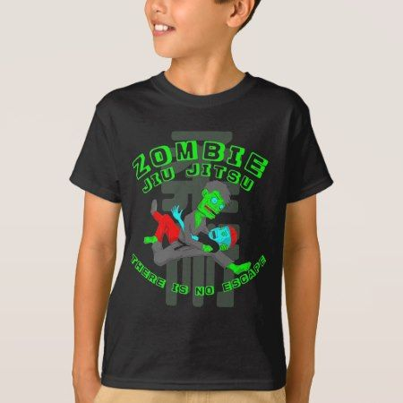 Zombie Jiu Jitsu there is no escape T-Shirt - tap to personalize and get yours
