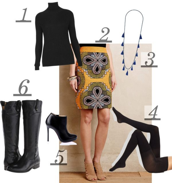 Outfit of the Day, Winter Outfits, Fall Fashion, Love this Anthropolgie Maeve skirt. Frye Melissa Boot, Spanx tights, Tassel necklace,Outfit of the Day #ootd