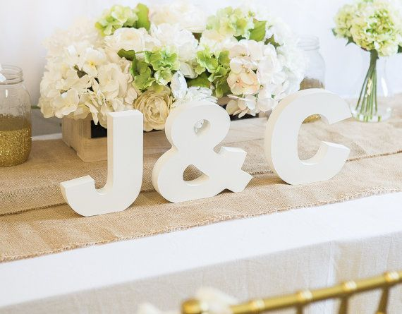 Wooden Letters Freestanding Wedding Initial by ZCreateDesign