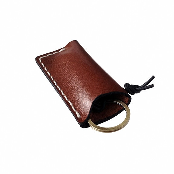 $45.00 Use for bills, flash-drive, lighter, what have youkey chain Leather Holder   Prim Object LeatherCraft