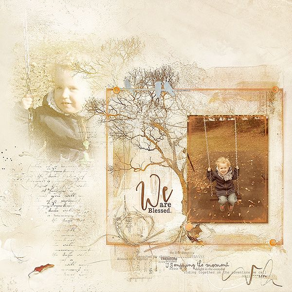 We are blessed! A digital scrapbookpage I (Margje made with: ArtPlay Palette Kinsfolk   Trees No. 2   MultiLayered FotoBlendz No. 4   Family WordART Mix No. 1   Other:   ArtsyEdge Frames No. 1   ArtsyPaint No. 4   Family WordMix No. 1   All Anna Aspnes