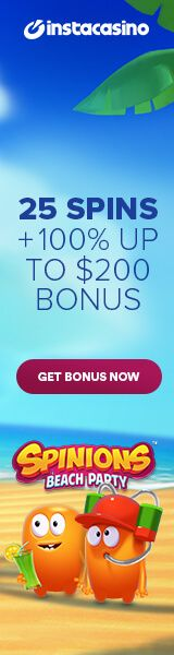 100 Free Spins and huge welcome bonus at InstaCasino
