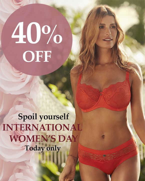 40% OFF! TODAY ONLY for International Women's Day! *March 8th 2017. In store only. #changelingeriecanada