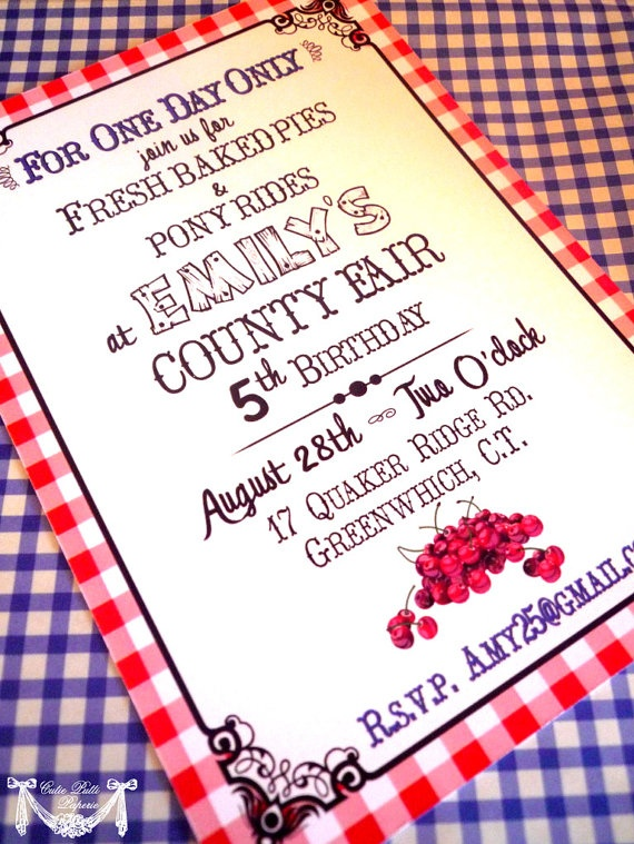 County Fair Party State Fair Party Country by CutiePuttiPaperie, $15.50