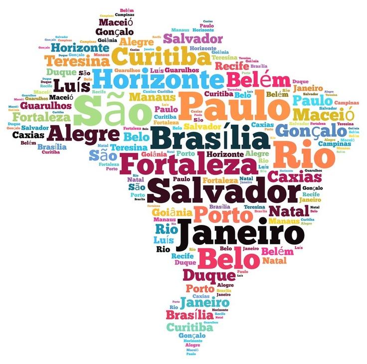 Mapa do Brasil tipo Tagxedo!