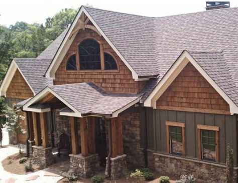 34 best siding images on pinterest exterior homes for Best wood for board and batten siding