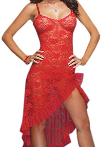 Price:$12.61 - $16.07  Women Lingerie Plus Size Sx Lace Mesh Babydoll Nightwear Long Gown Thong