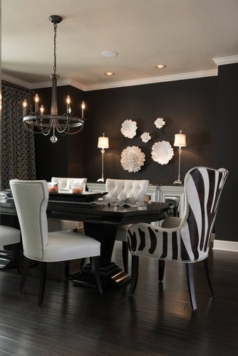 Black and White Dine and Dazzle - modern - dining room - kansas city - Kathleen Ramsey, Allied ASID