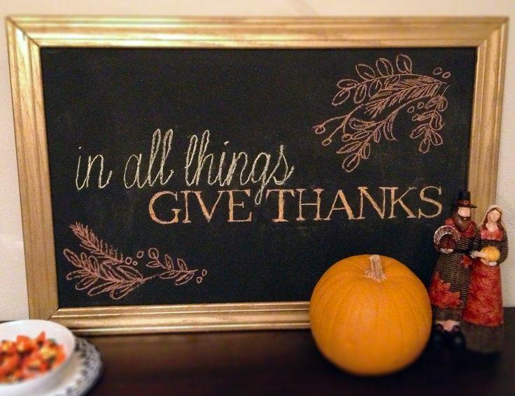 Thanksgiving Chalkboard | Thanksgiving Chalkboard Art | Autumn
