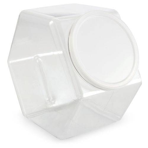 Plastic Hexagon Candy Jar With Lid 4 Quot X 6 Quot Hexagons
