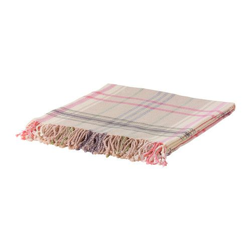 "HERMINE Throw - beige/pink - IKEA...for girly ""glamping"""