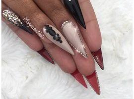 Best 25 summer stiletto nails ideas on pinterest stiletto nail glitter ombr summer stiletto nails by margaritasnailz prinsesfo Image collections