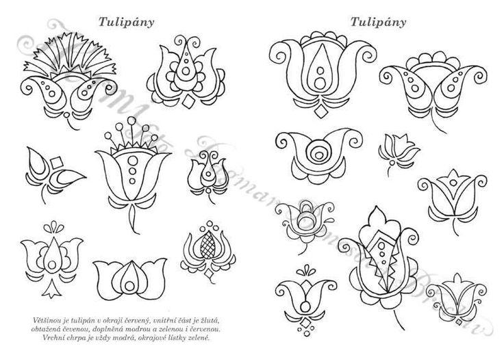 Omalovánky ornamentů z Podluží 1. pracovní sešit z Lanžhota