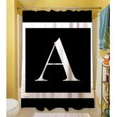Found it at Wayfair - Classic Block Monogram Polyester Shower Curtain