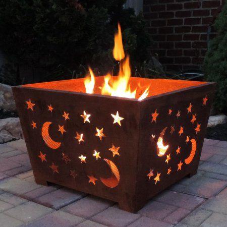 Esschert Design Star & Moon Wood Burning Fire Pit