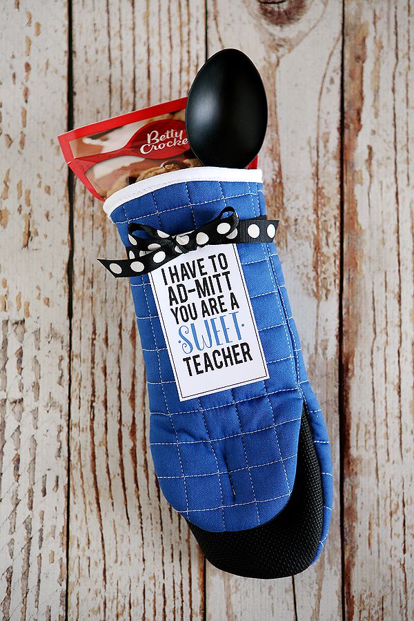 I Have To Ad-Mitt You're a Sweet Teacher - fun teacher appreciation gift!