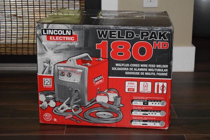 LINCOLN WELD-PAK 180 HD MIG/FLUX CORED WIRE FEED WELDER K2515-1