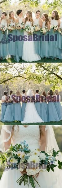 Long Lace Scoop Sleeveless Formal Bridesmaid Dresses, Most Popular Bridesmaid Dress Online, PD0524