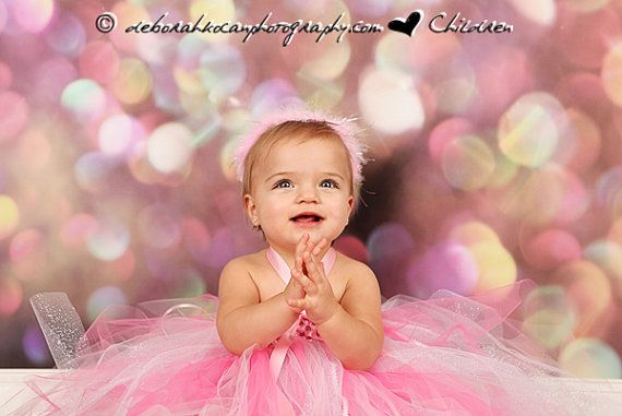 1st, 2nd, 3rd, 4th Birthday Pink Tulle Tutu Dress with Tiara for Babies, Infants, & Toddlers via Etsy