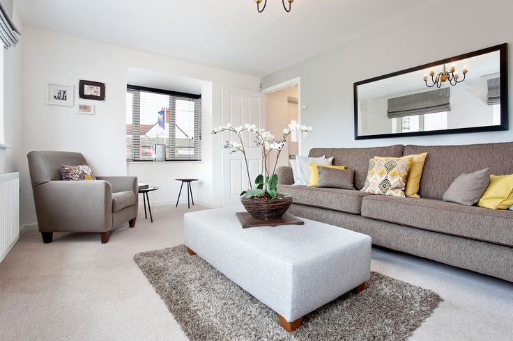 The living room in The Sheringham at Montfort Meadow in Evesham | Bovis Homes