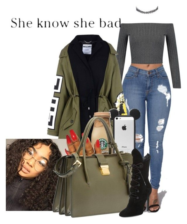 """""""Manhattan Resident"""" by melaninprincess-16 ❤ liked on Polyvore featuring River Island, Moschino, Miu Miu and Kendall + Kylie"""