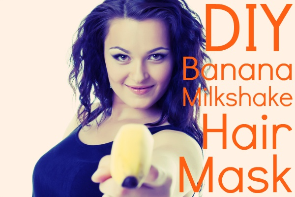 1-2 bananas (or 3 if you have really long or thick hair)  coconut milk, enough to thin out your bananas  1 tablespoon of honey  1 tablespoon of cocoa powder