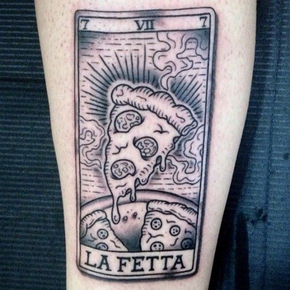 50 Mouthwatering Pizza Tattoos