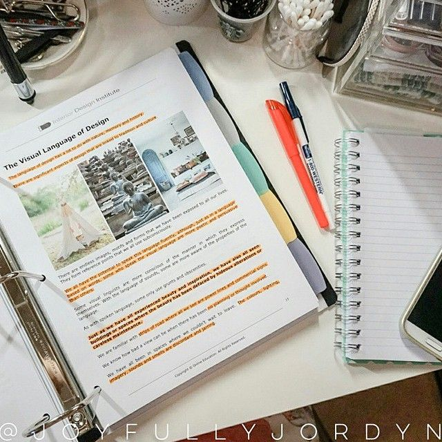 Repost From IDI Student Who Is Busy Reading Module 1 Of Our Online Diploma Interior Design Course