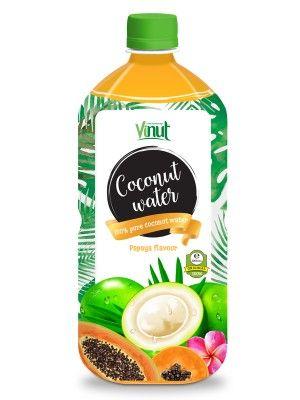 1L_Pet_bottle_Natural_Pure_Coconut_water_Papaya_flavour