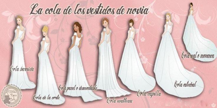 Tipos de cola en los vestidos de novia, ¿los conocías todos?