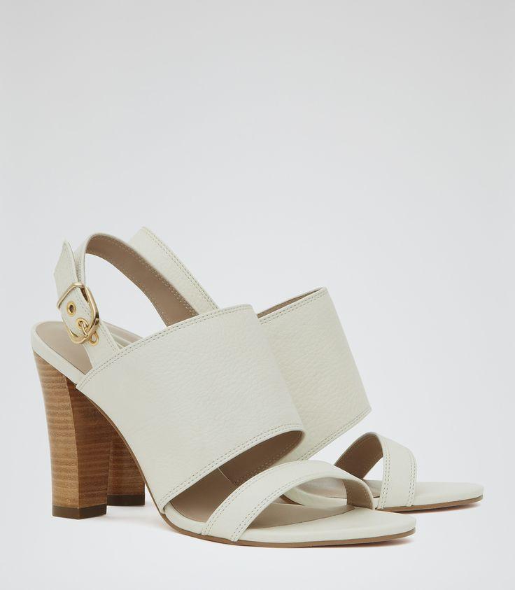 Womens Cream Block-heel Sandals - Reiss Franka