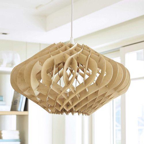 Lampada a sospensione in legno D 42 cm WOODEN