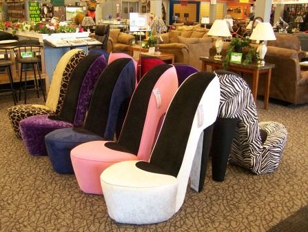 Cool High Heels Chairs! Www.trappersalley.com