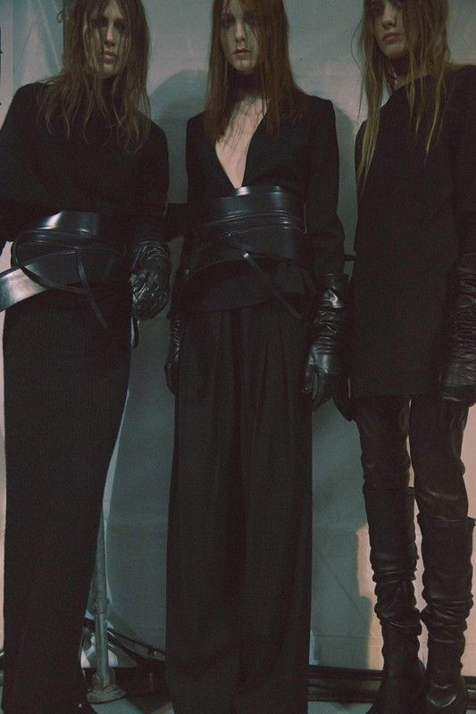 Ann Demeulemeester AW15, Dazed backstage, Womenswear, Paris